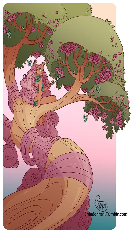 Spring Tree Lady