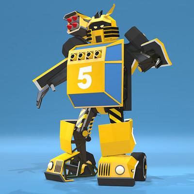 Transformer - Low Poly version.
