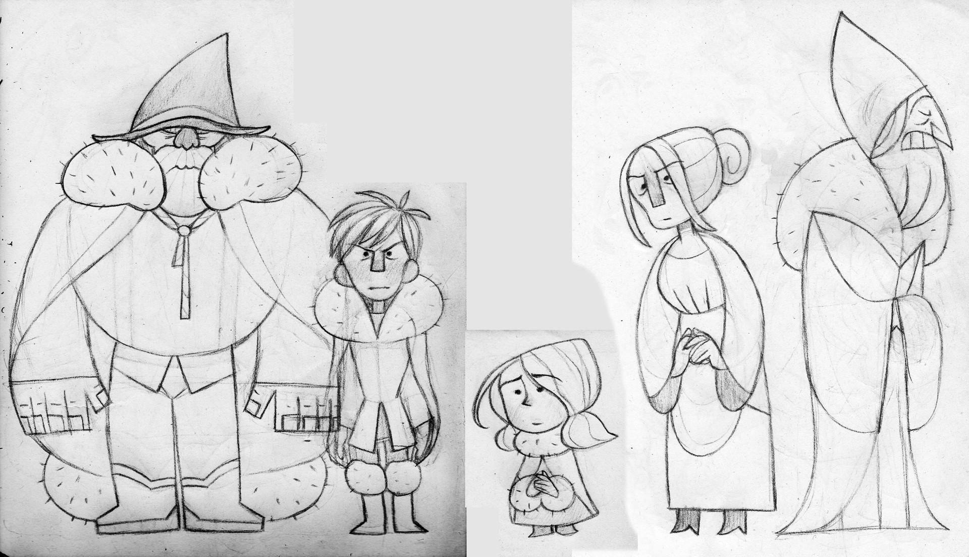 Lineup - Sketch Chief, Boy, Little Red, Mother, Elder