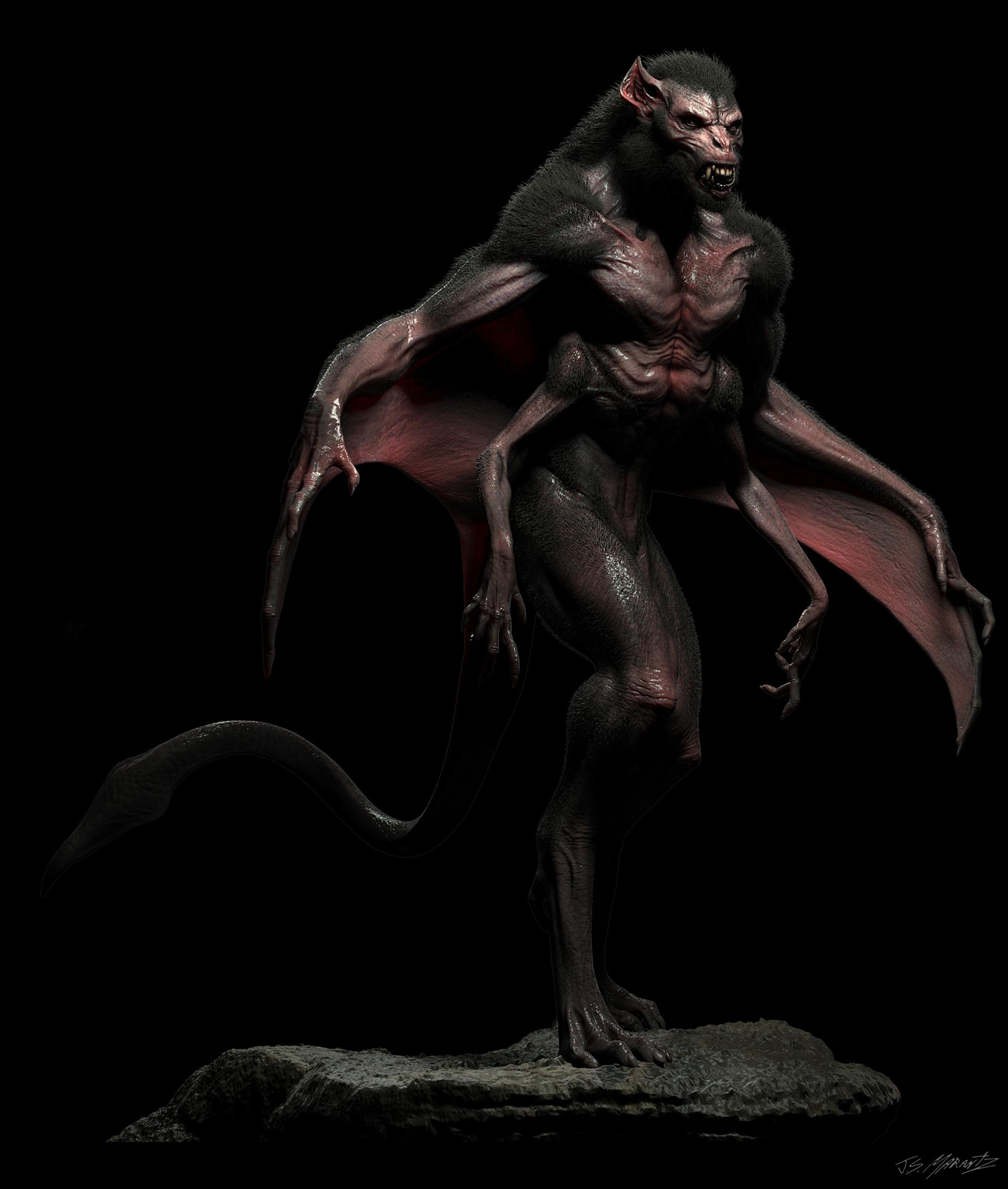 Jerx marantz bat creature conceptart workshop sprex hair 1