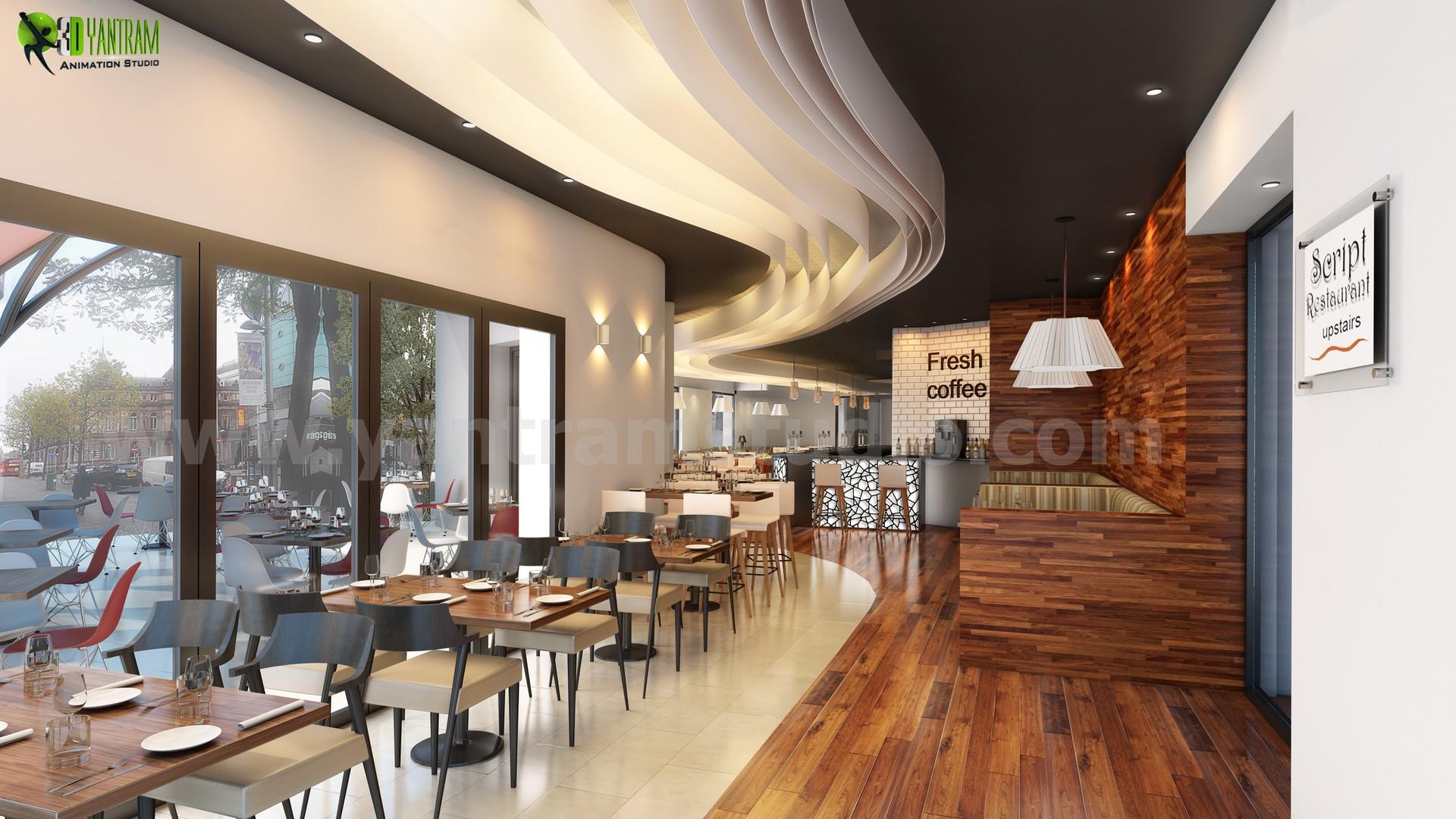Yantram Architectural Design Studio Commercial Unique Bar Interior Rendering Design Cgi Melbourne Australia