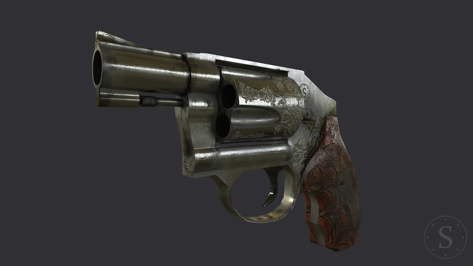 ArtStation - Smith and Wesson 442 38SPL + P , salim Tighnavard