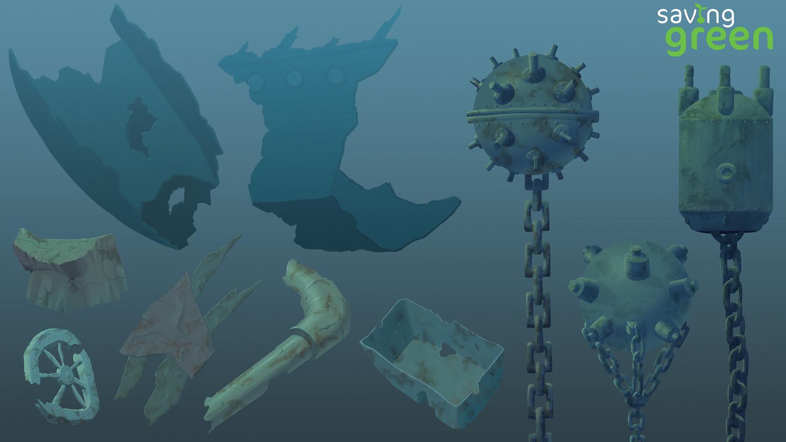 Saving Green - Underwater Props 1