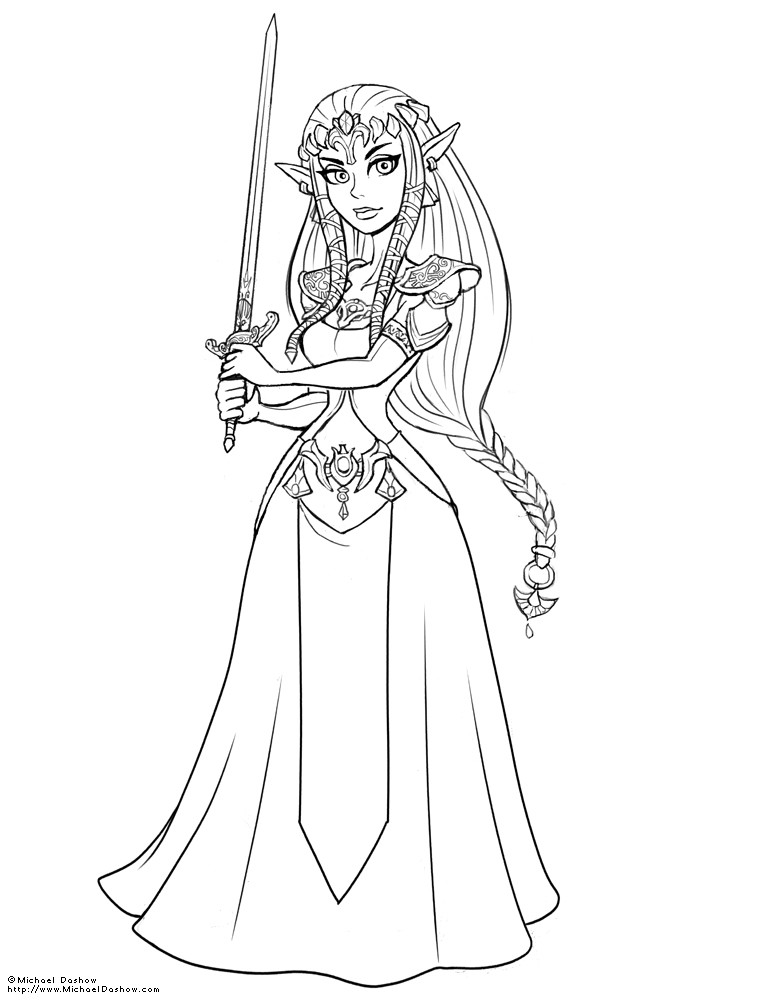 Michael dashow zelda line art