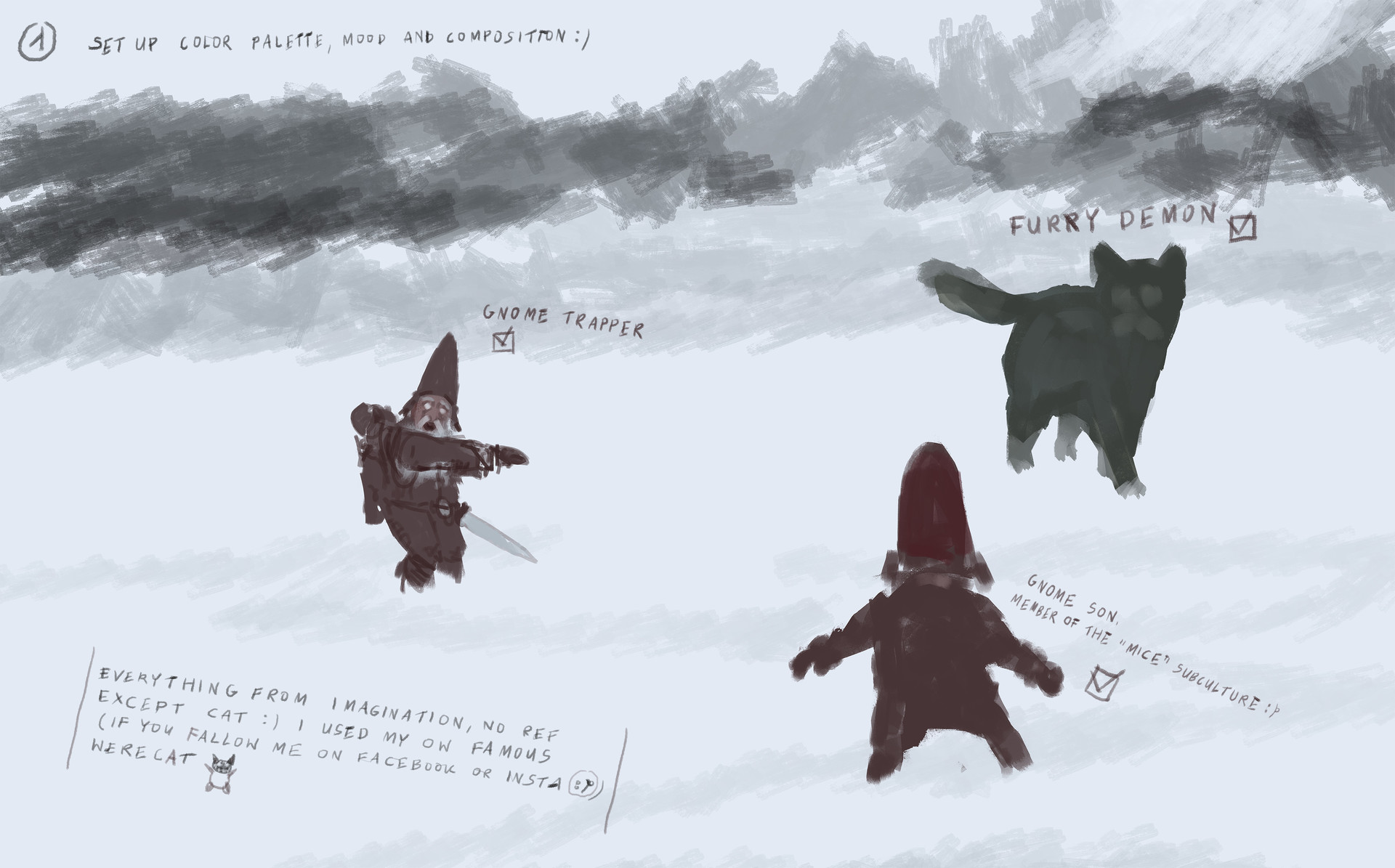 Jakub rozalski furry demon 01process1