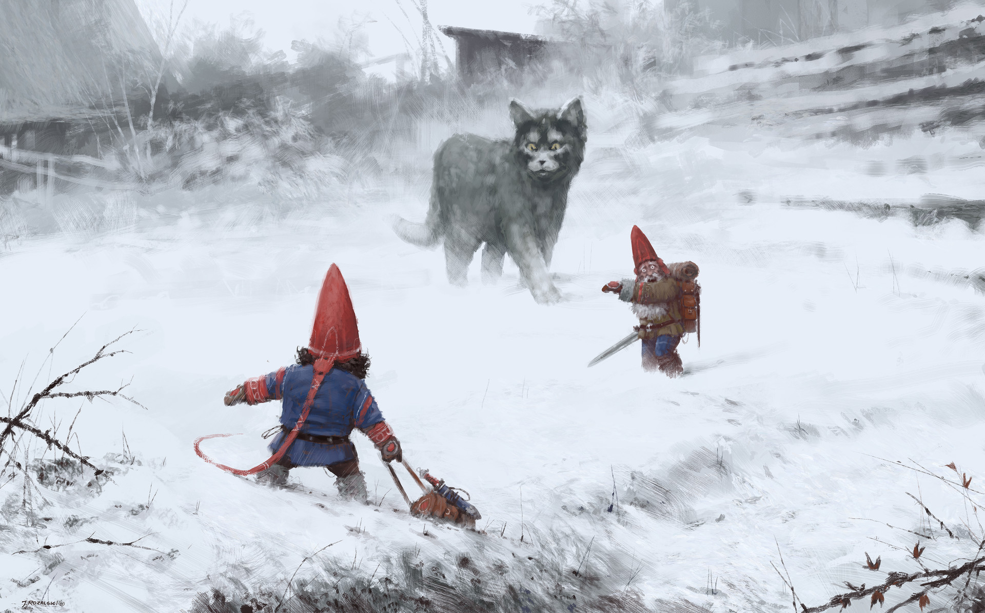 Jakub rozalski furry demon 01s