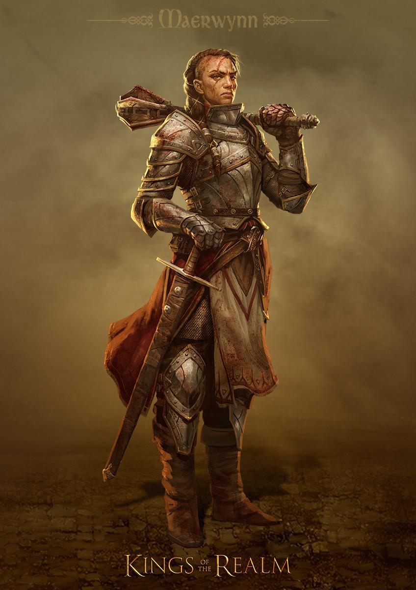 Denman rooke portrait2 human commander maerwynn
