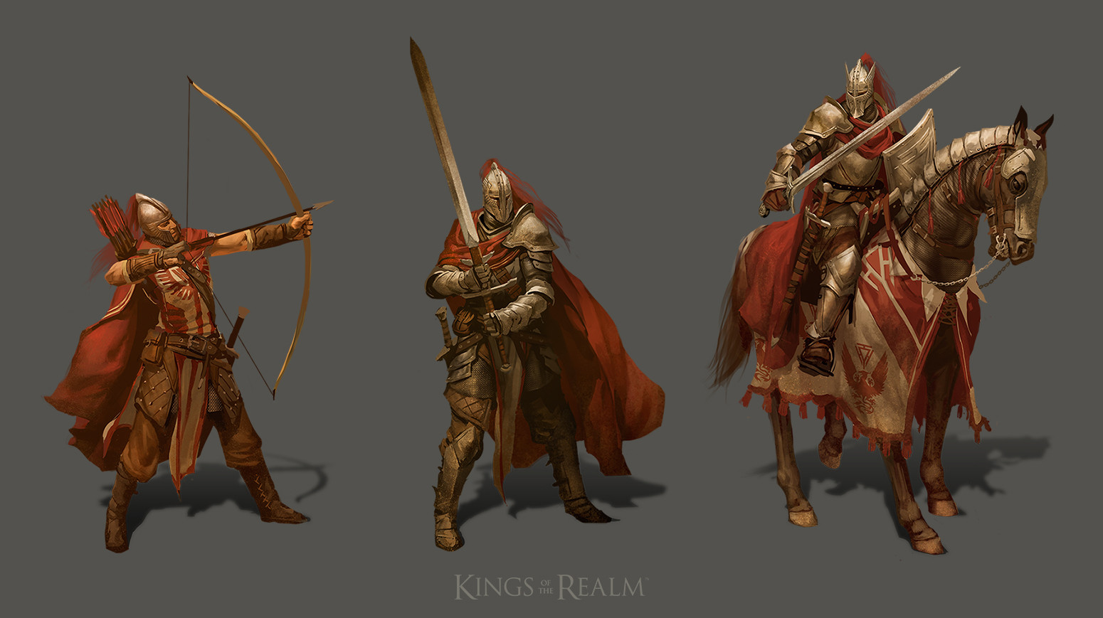 Tier 4 troops. Longbowman, Man at Arms, Knight.