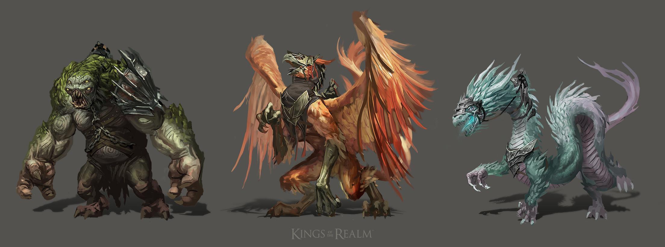 Tier 6 troops. Troll (Dwarf), Gryphon (Human), Basilisk (Elf).