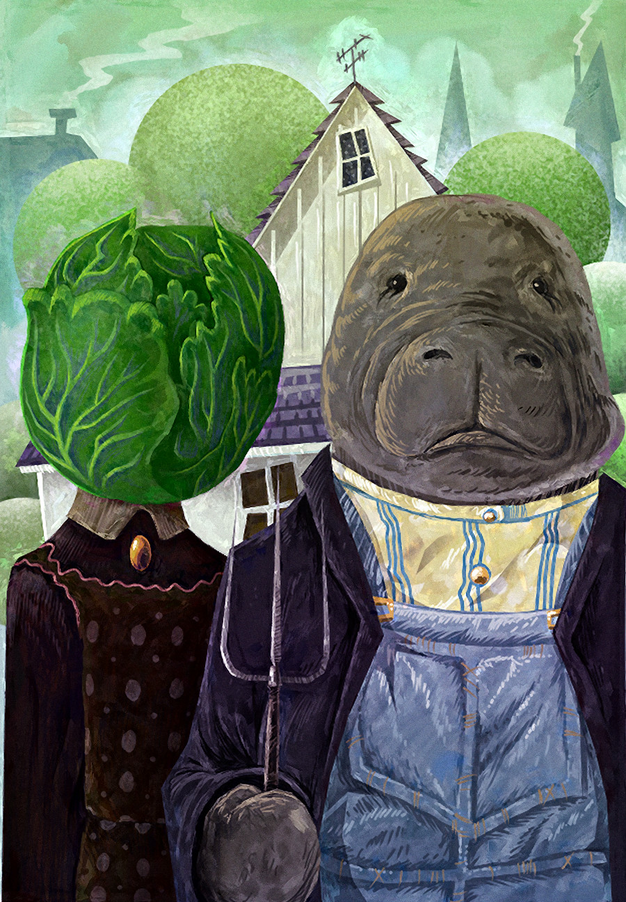 he married cabbage. it'll make more sense when you see the film.