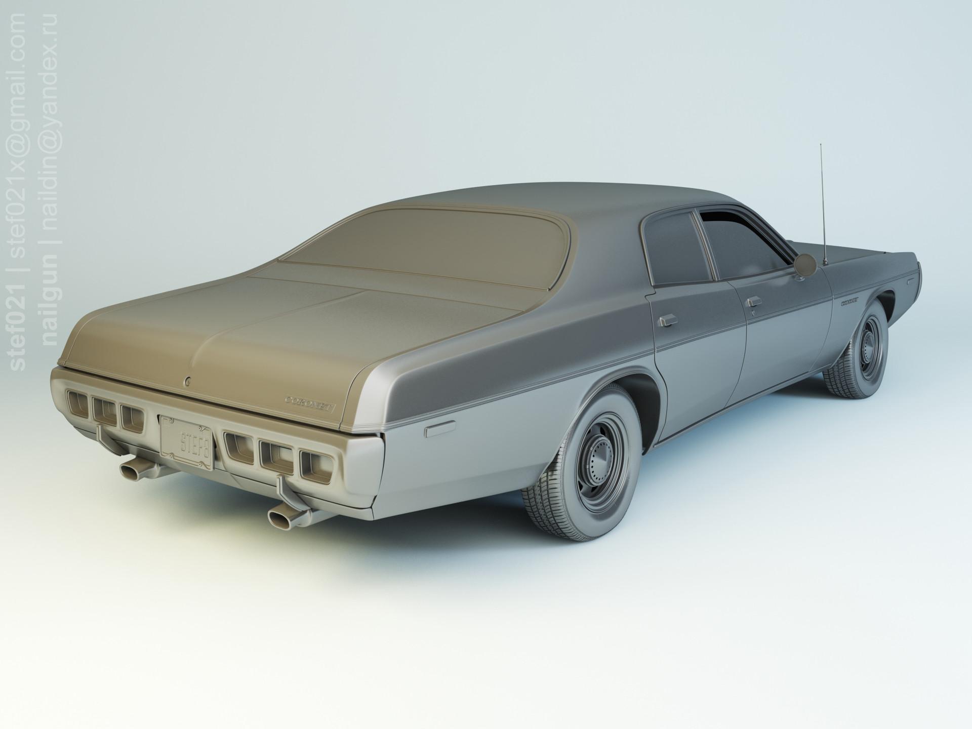 Nail khusnutdinov pwc 053 001 dodge coronet 1973 modelling 1