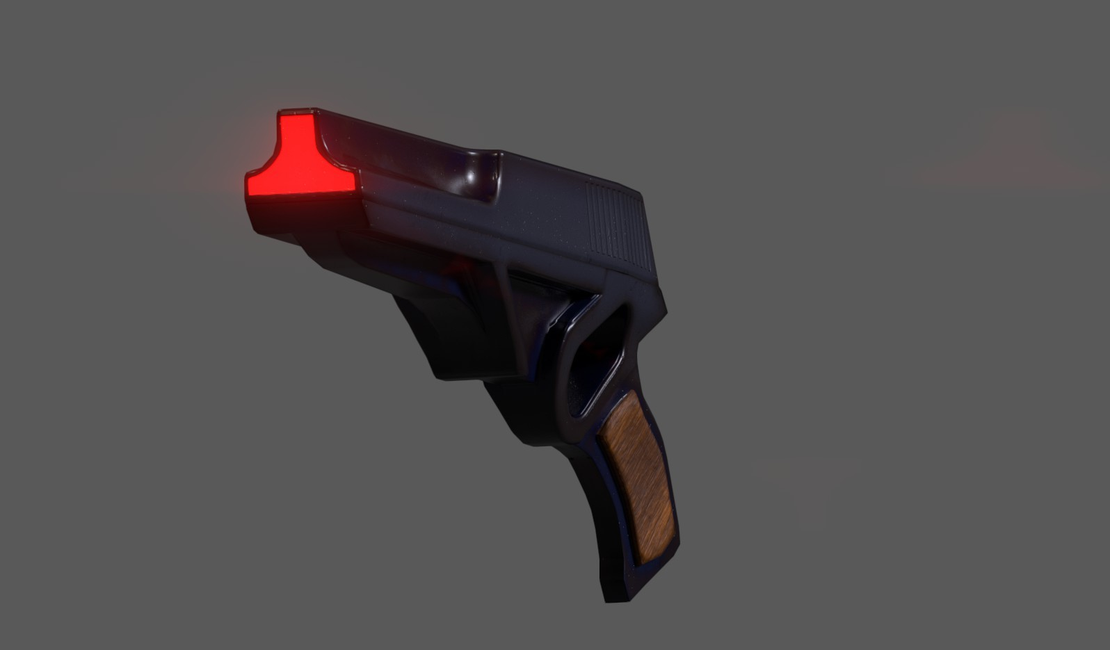 "initially I wanted to have the ""muzzle"" as pictured above, with fully open hole tracing the perimeter of the front polygons but it left the slide feeling way to thin."