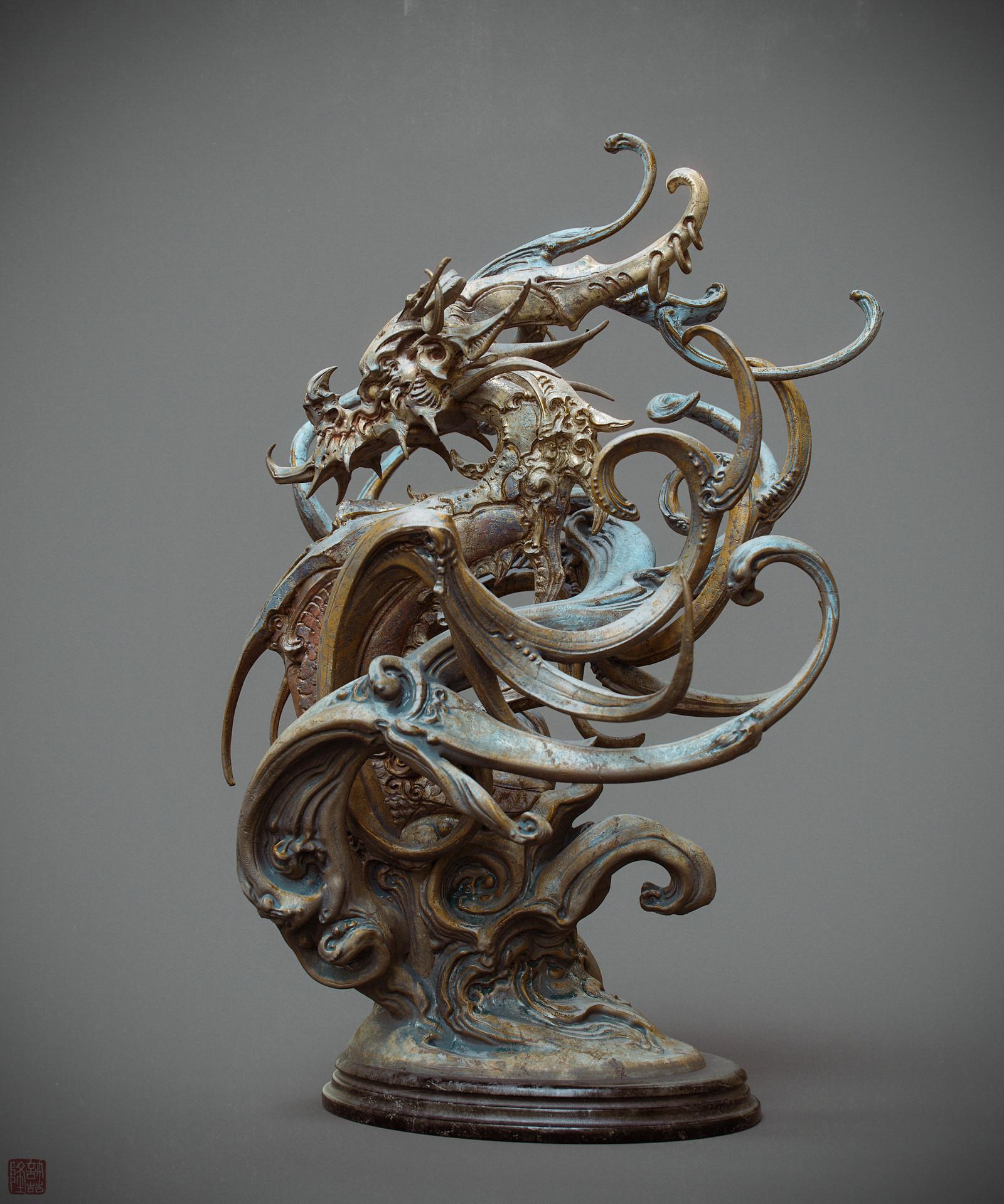 Zhelong xu zhelong xu drgaon statue03 websize