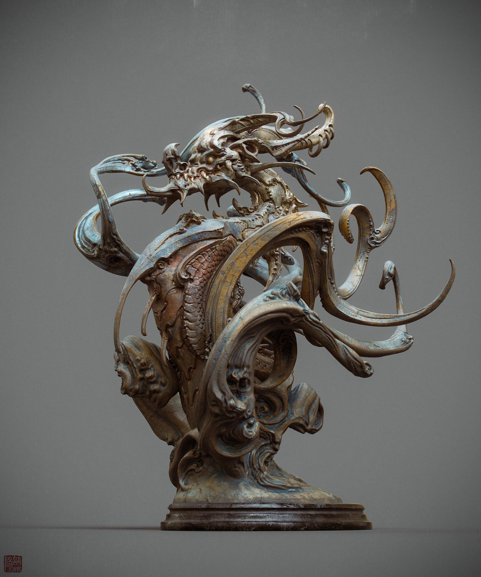 Zhelong xu zhelong xu drgaon statue02 websize