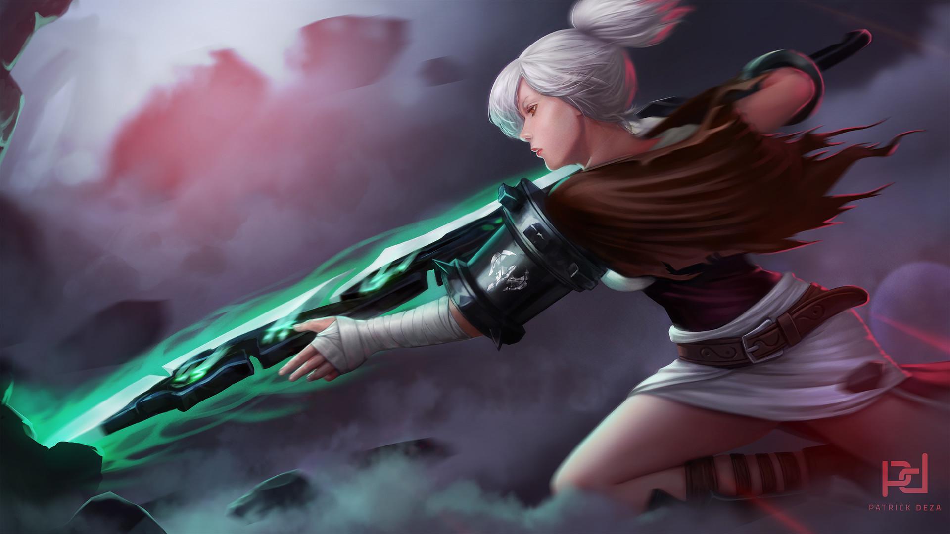 patrick deza - riven - the exile league of legends fanart