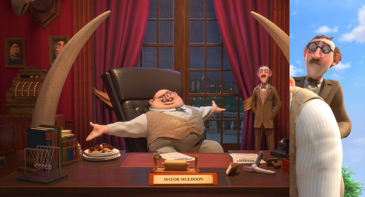 Nut Job 2 - Surfacing for Character : Mayors Assistant , Environment : Mayors Office, Tusks, Desk,Mayors Chair