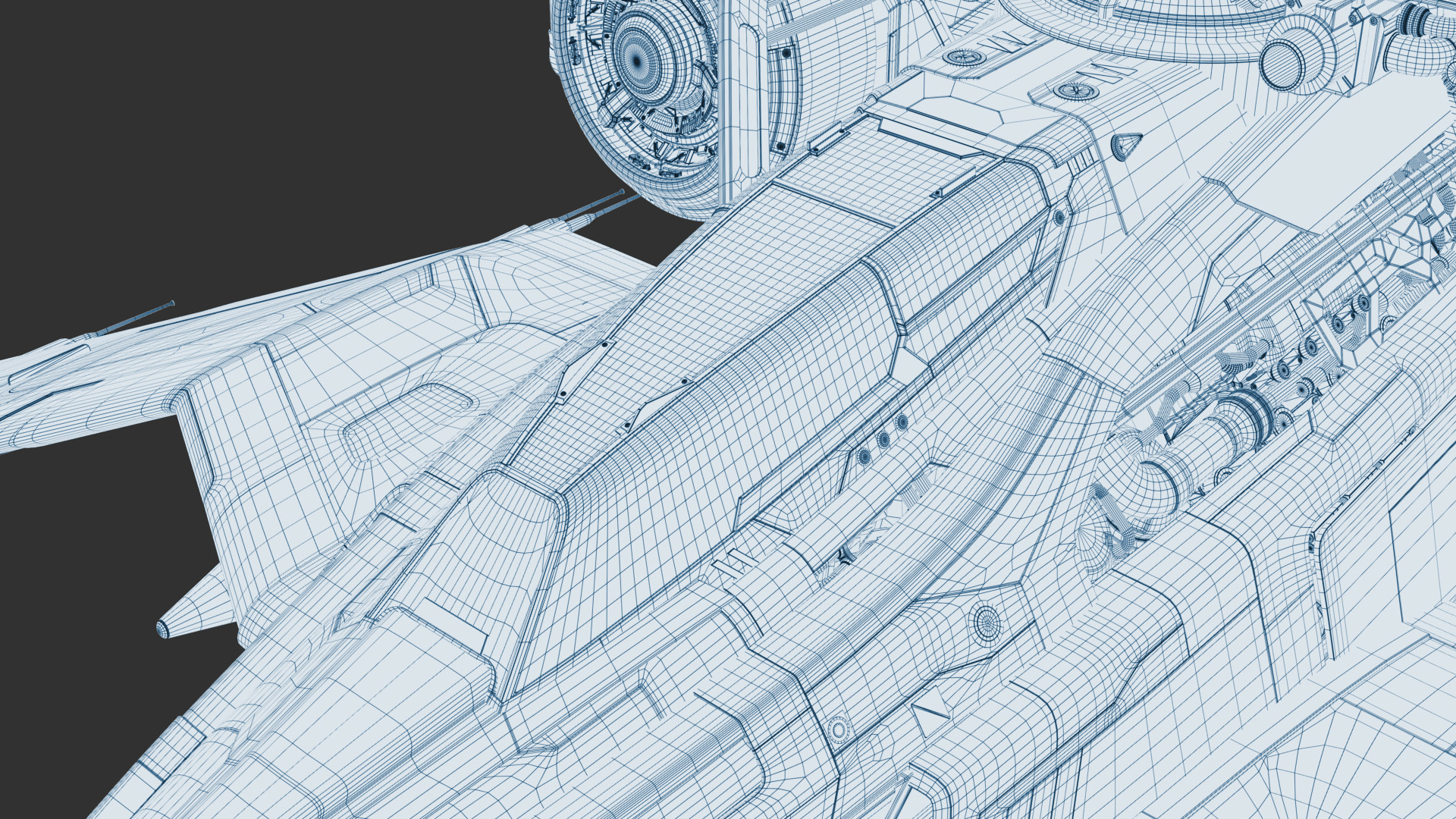 Andrew Hodgson - Wireframe and Clay Renders