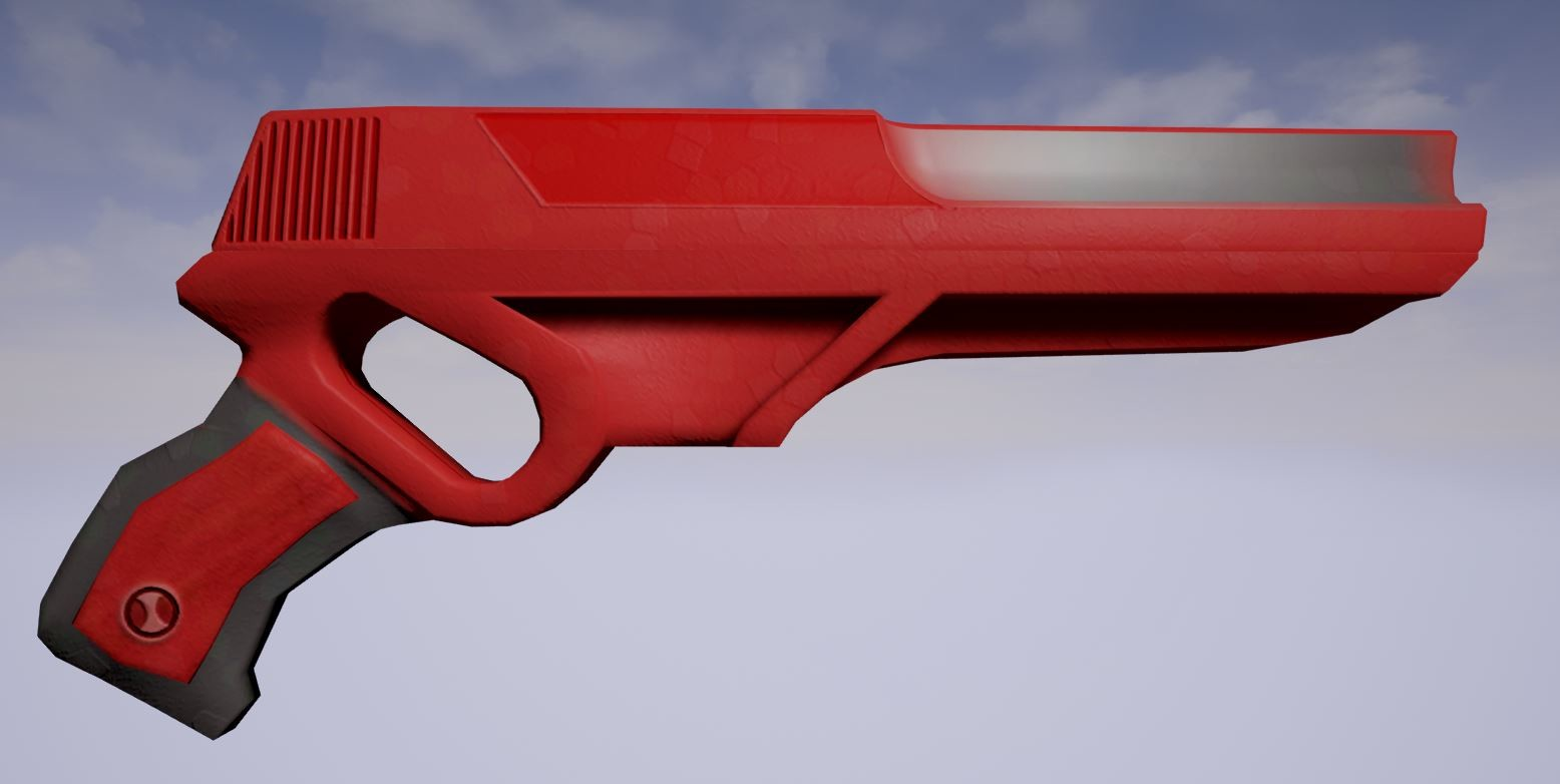 Old Model blaster with 1K texture made in Photoshop Unreal Engine render [In-engine]