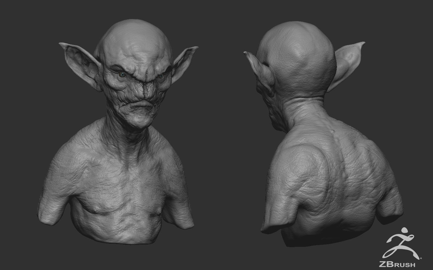 Daniel bystedt painted goblin zbrush