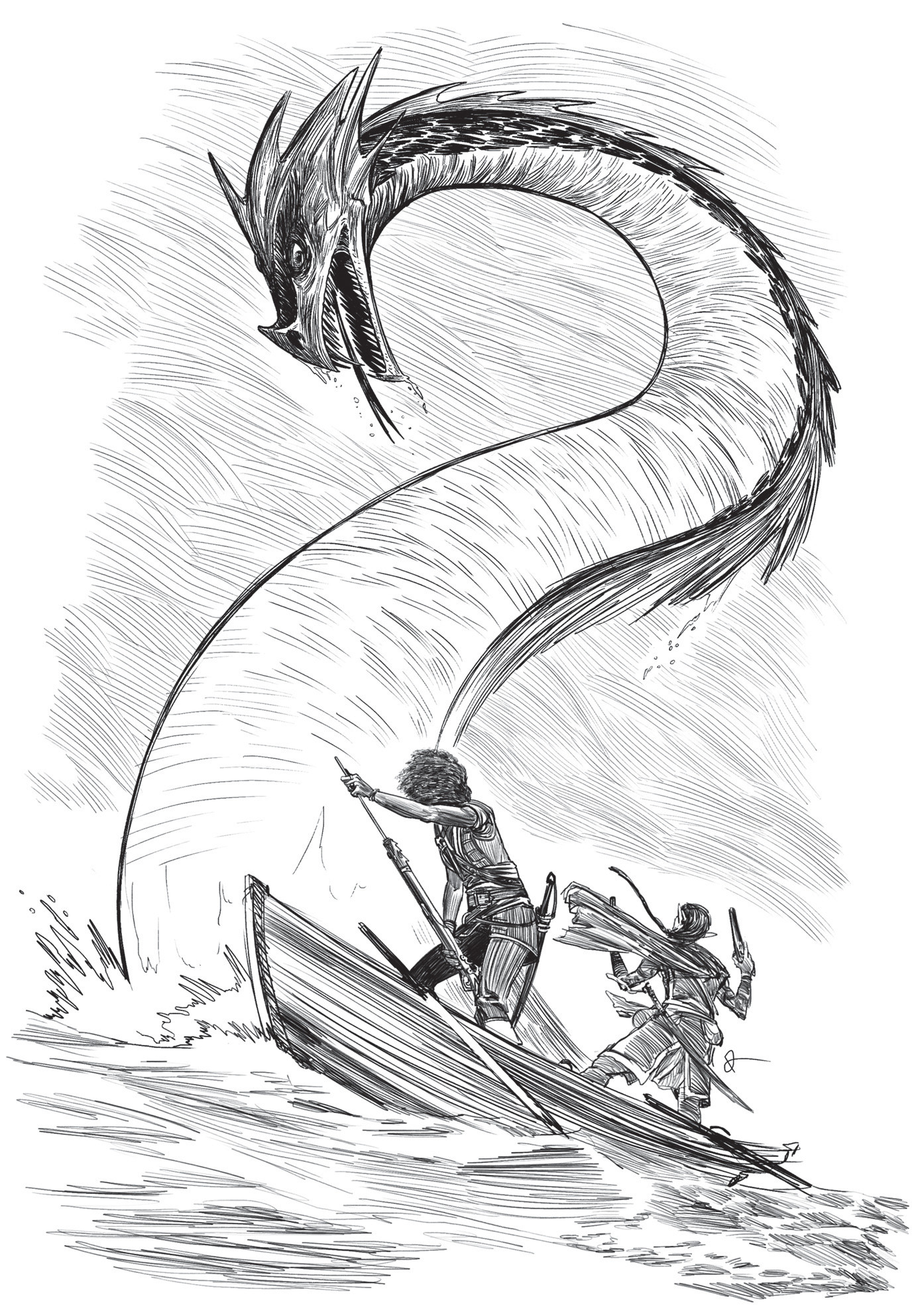 Dan ramos monstro serpente marinha