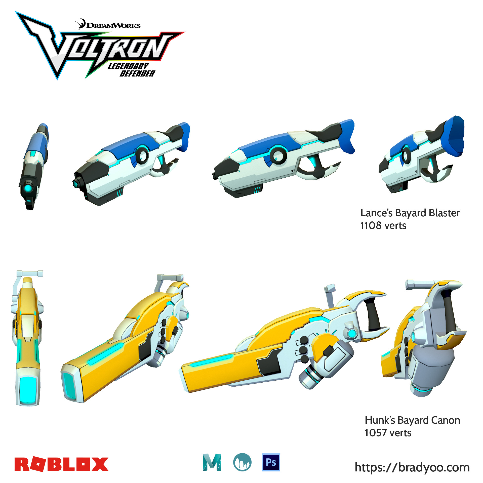 Brx yoo voltron blasters01 roblox 2017