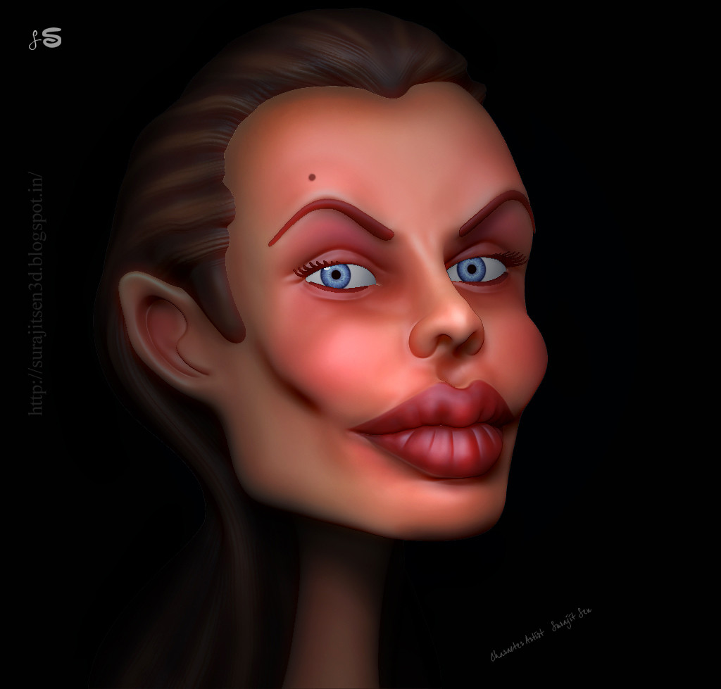 Surajit sen caricature in 3d by surajitsen 07082017