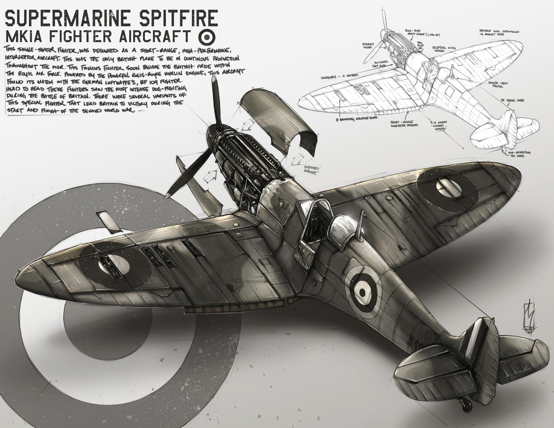 Shane molina warbirds spitfire 8 5x11 print