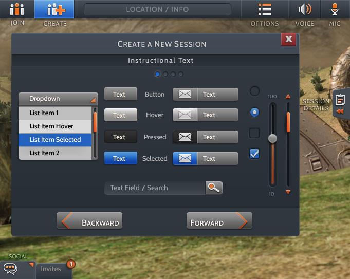 Main UI set