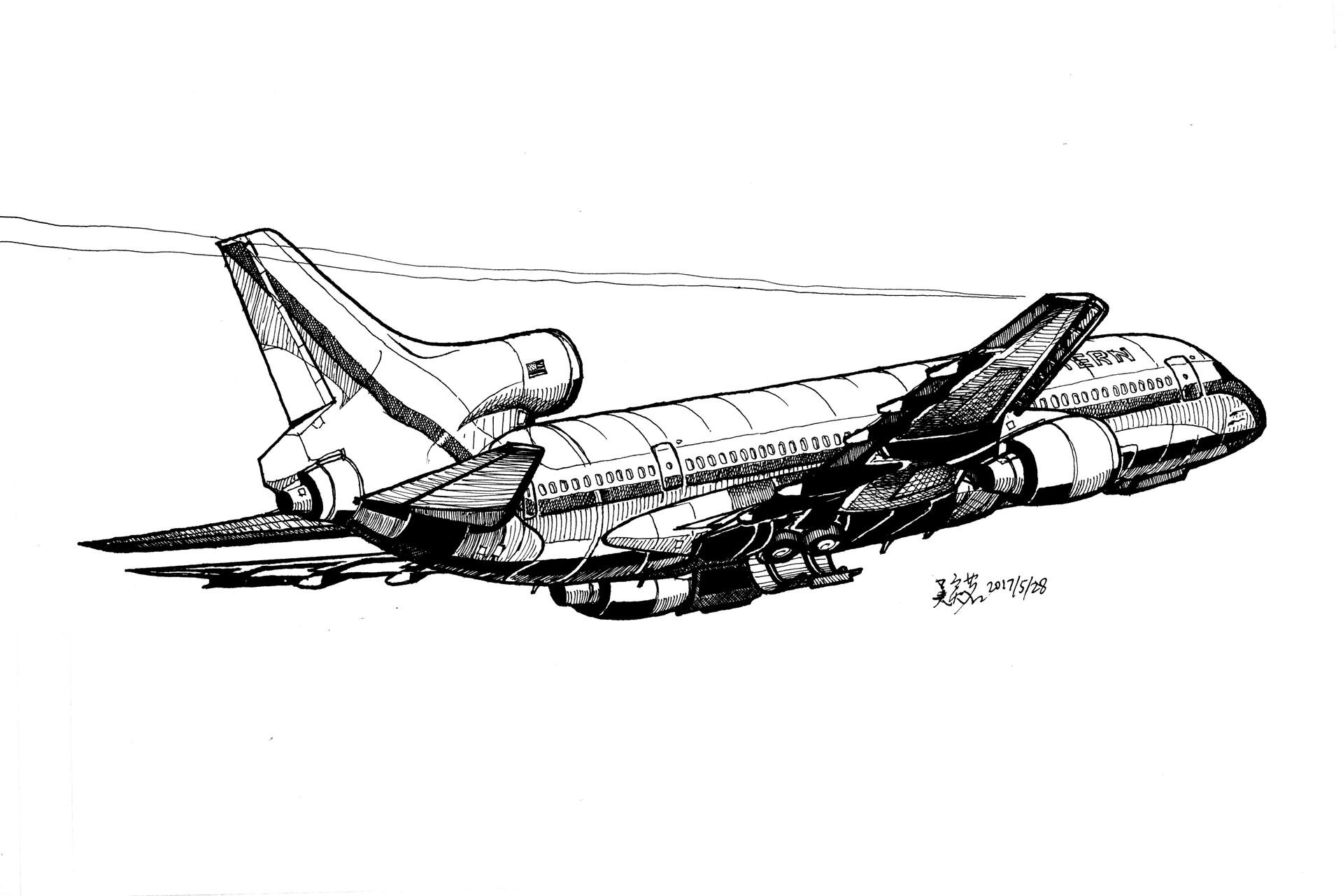 Artstation Lockheed L1011 Yiming Wu