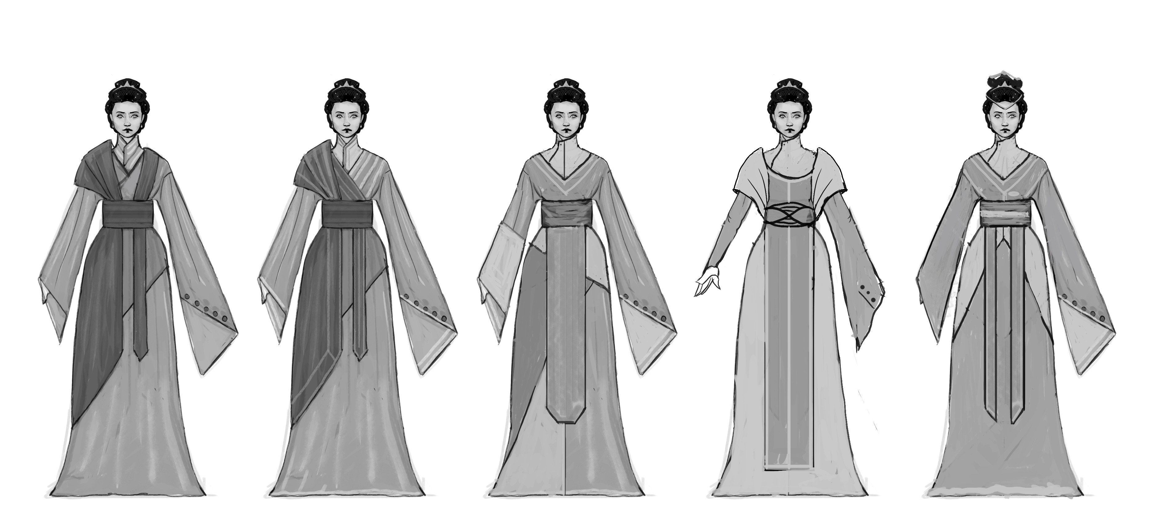 Early costume iterations