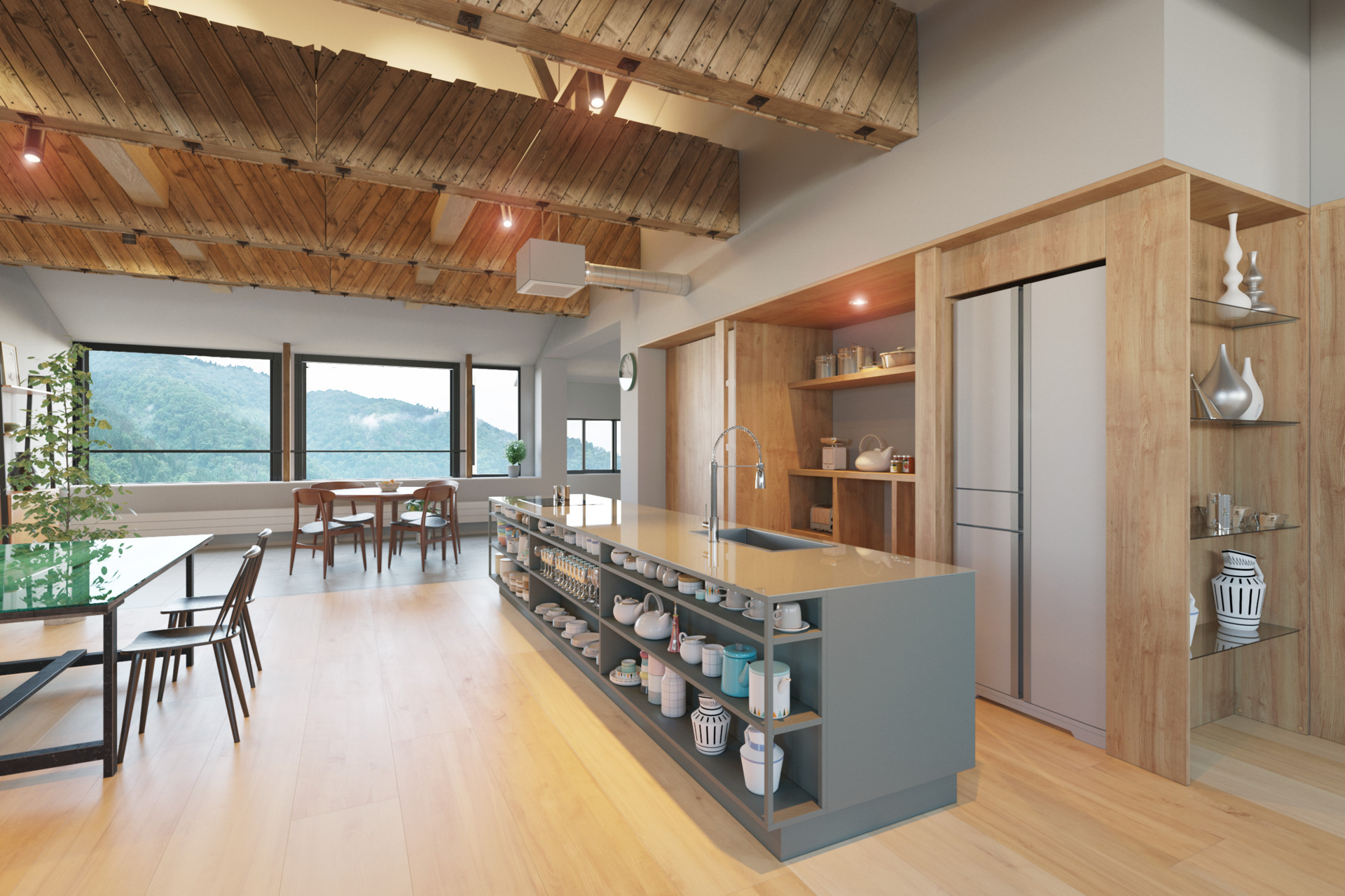 Artstation Modern Kitchen In Japan Roman Kolyada