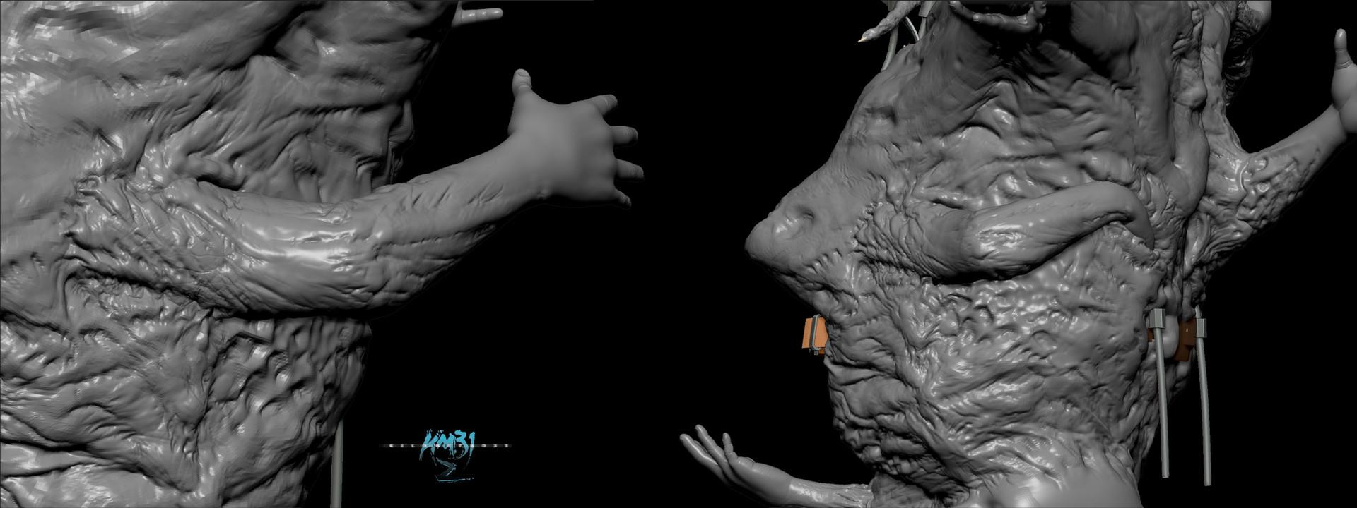 Raul eduardo sanchez osorio km312 agatha sculpt turnaorund phase 3 final sculpt arm position and detail