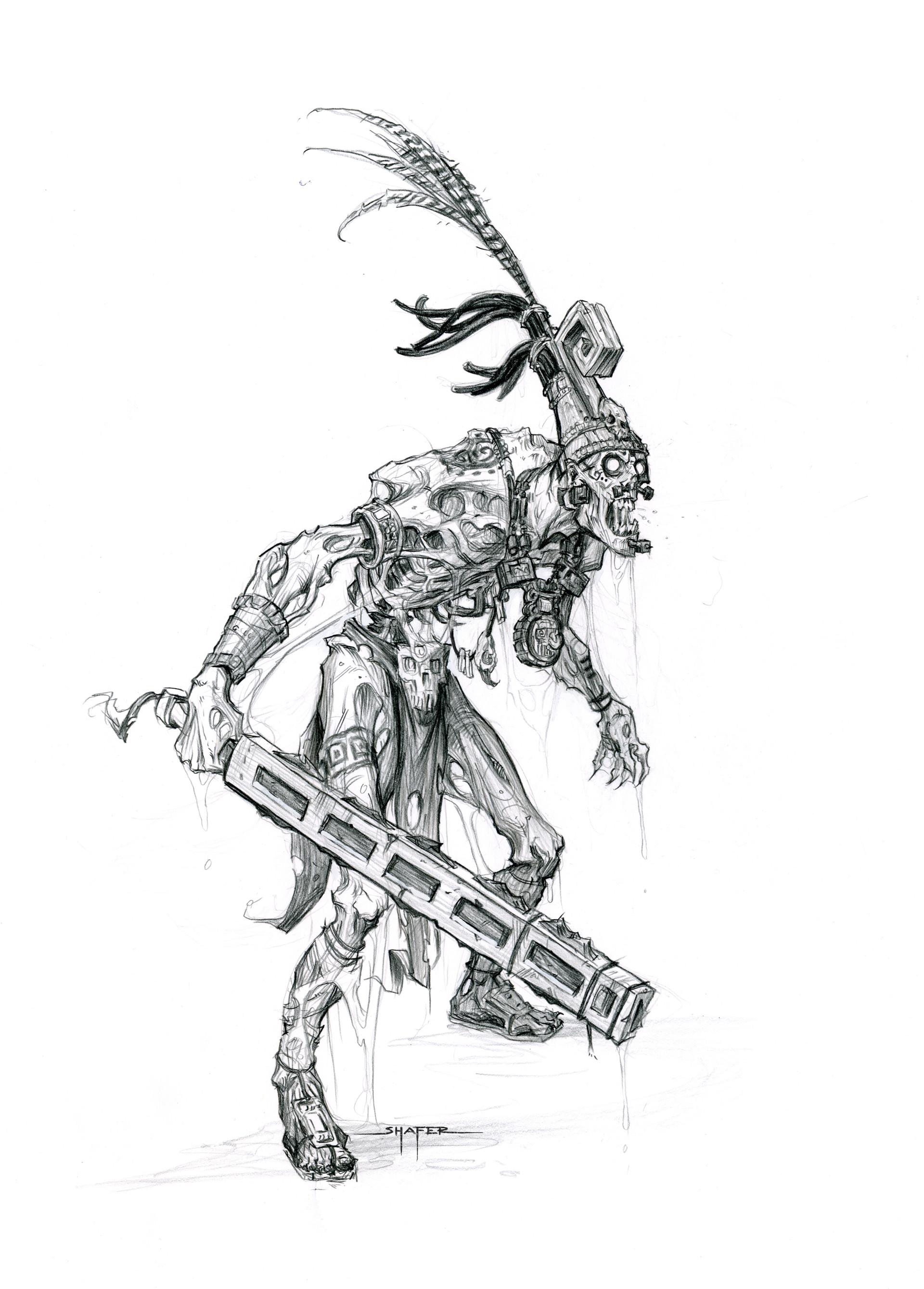 Ben shafer mayan thrall sketch 1