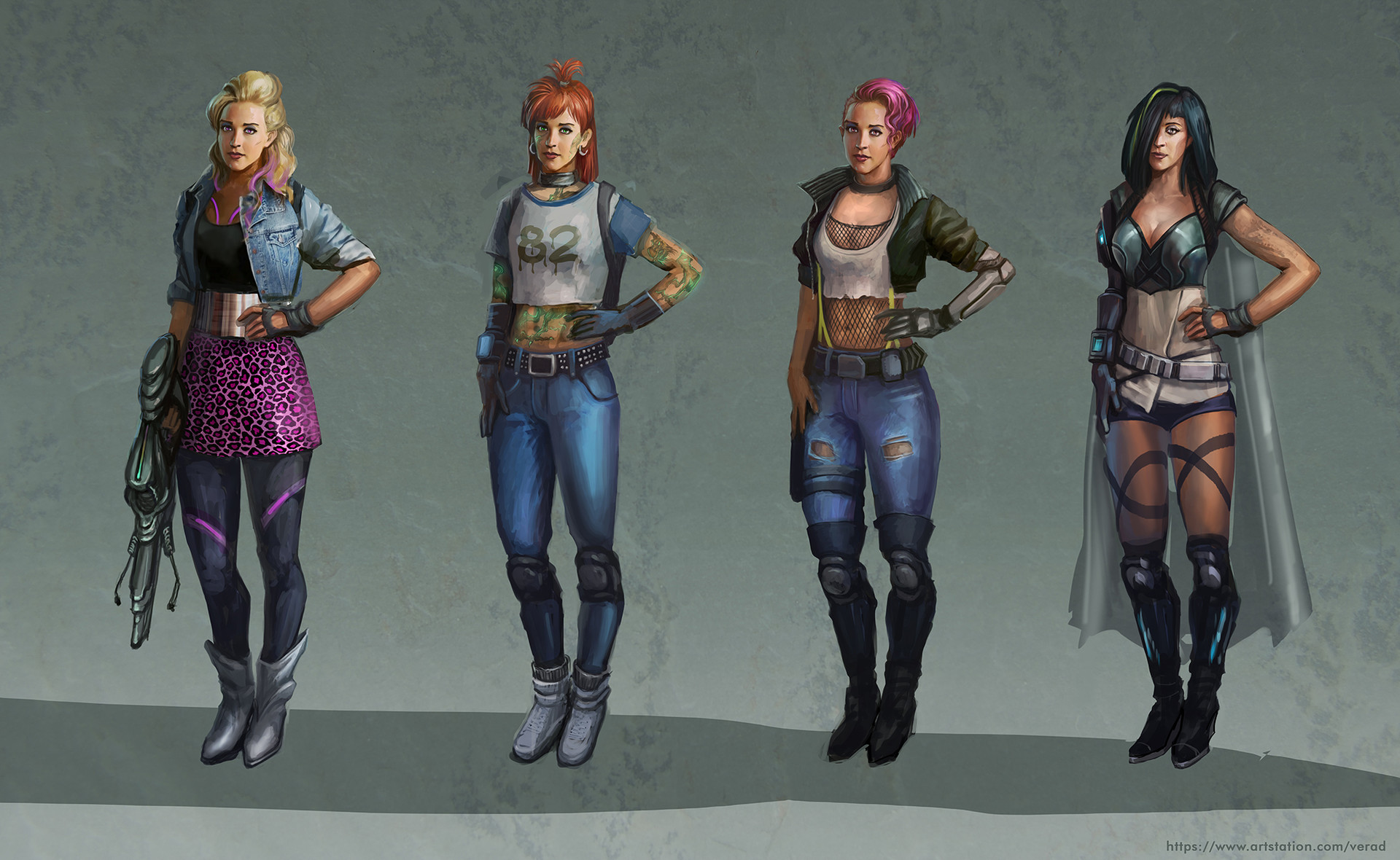 Fashion Picture: Cyberpunk Girls, Vera Dakhova