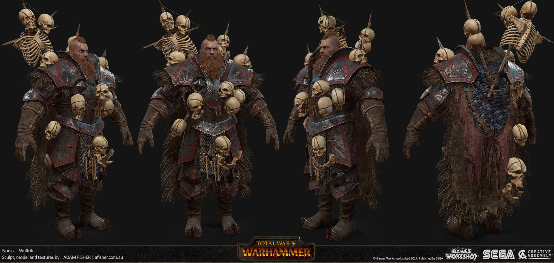 Adam Fisher Total War Warhammer Wulfrik