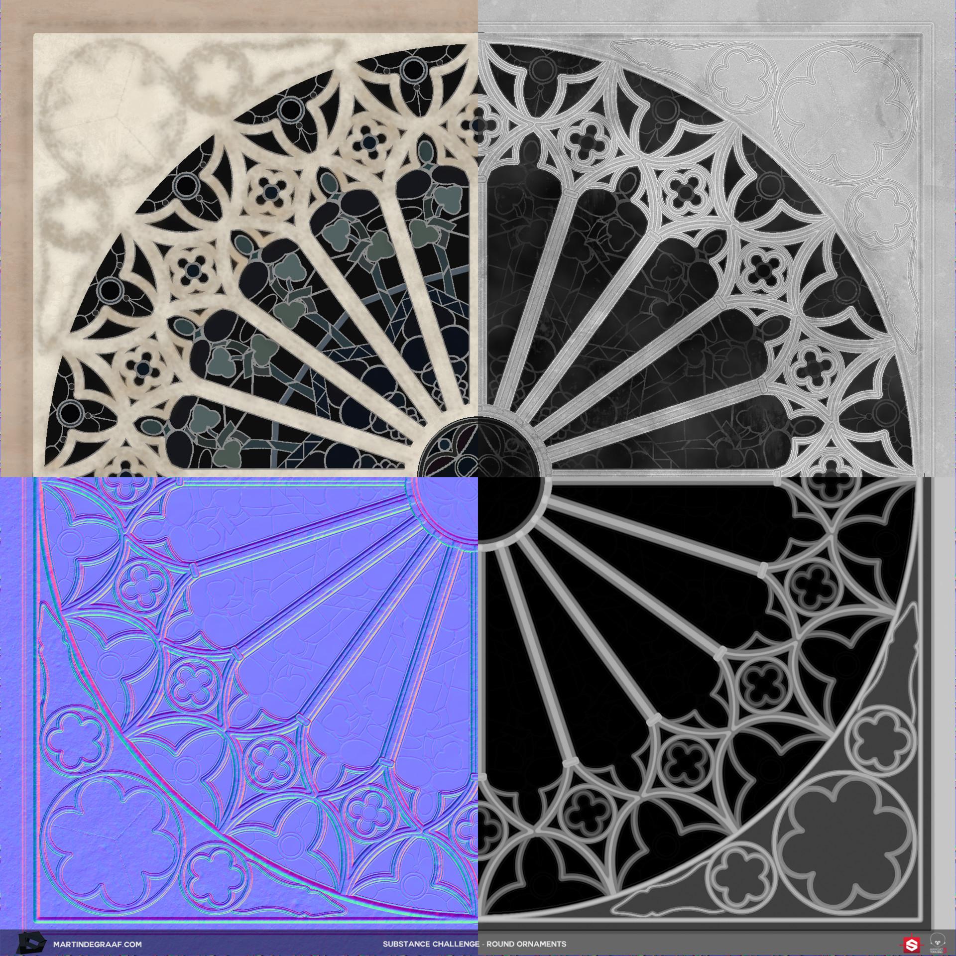 Martin de graaf substance challenge round ornaments substance texturesheet martin de graaf 2017