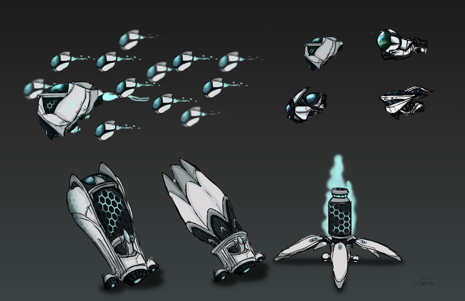 Before the big change. Old Swarm Robots concept.