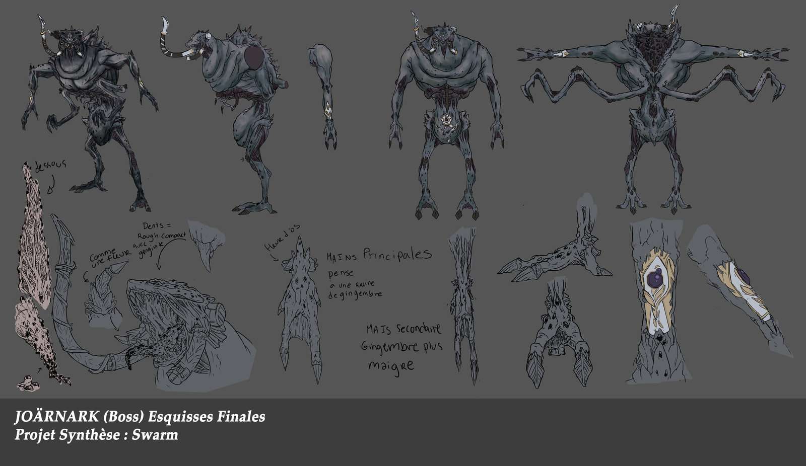 Before the change. Old Swarm Final Boss. One of the first sketch of the Boss