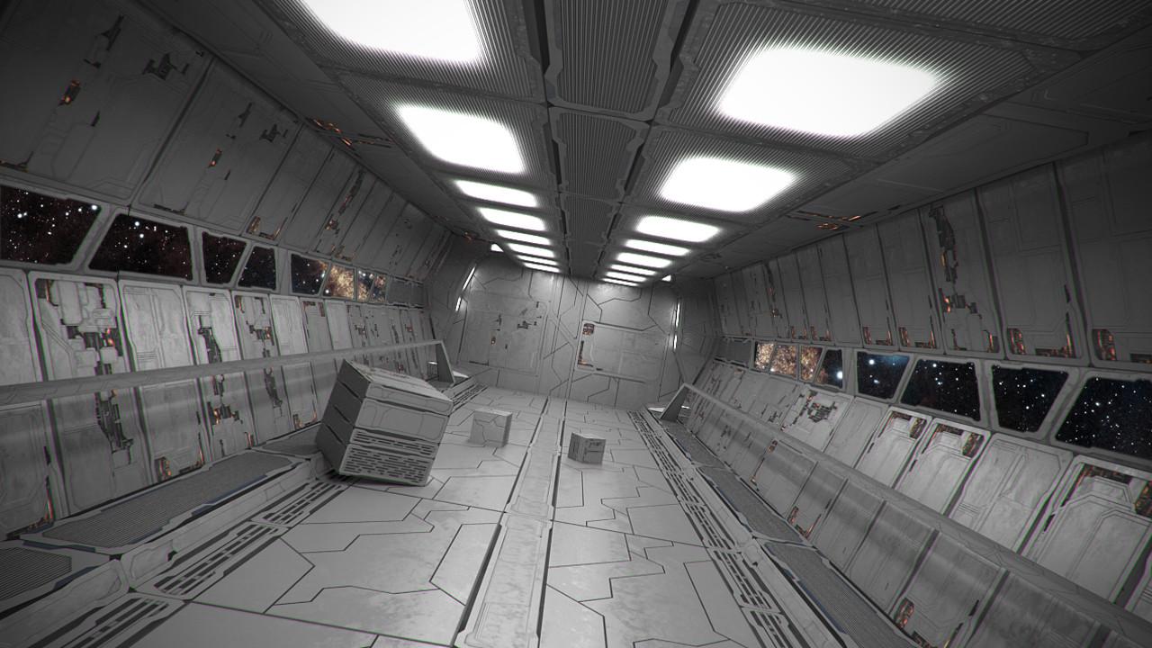 Spaceship Interior Fly Through