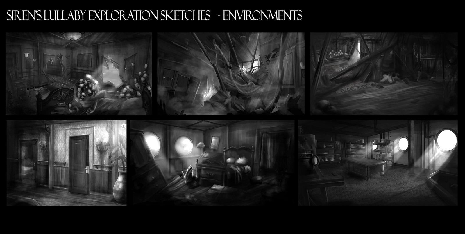 Some of the environment thumbnails I did before going on the animation team.