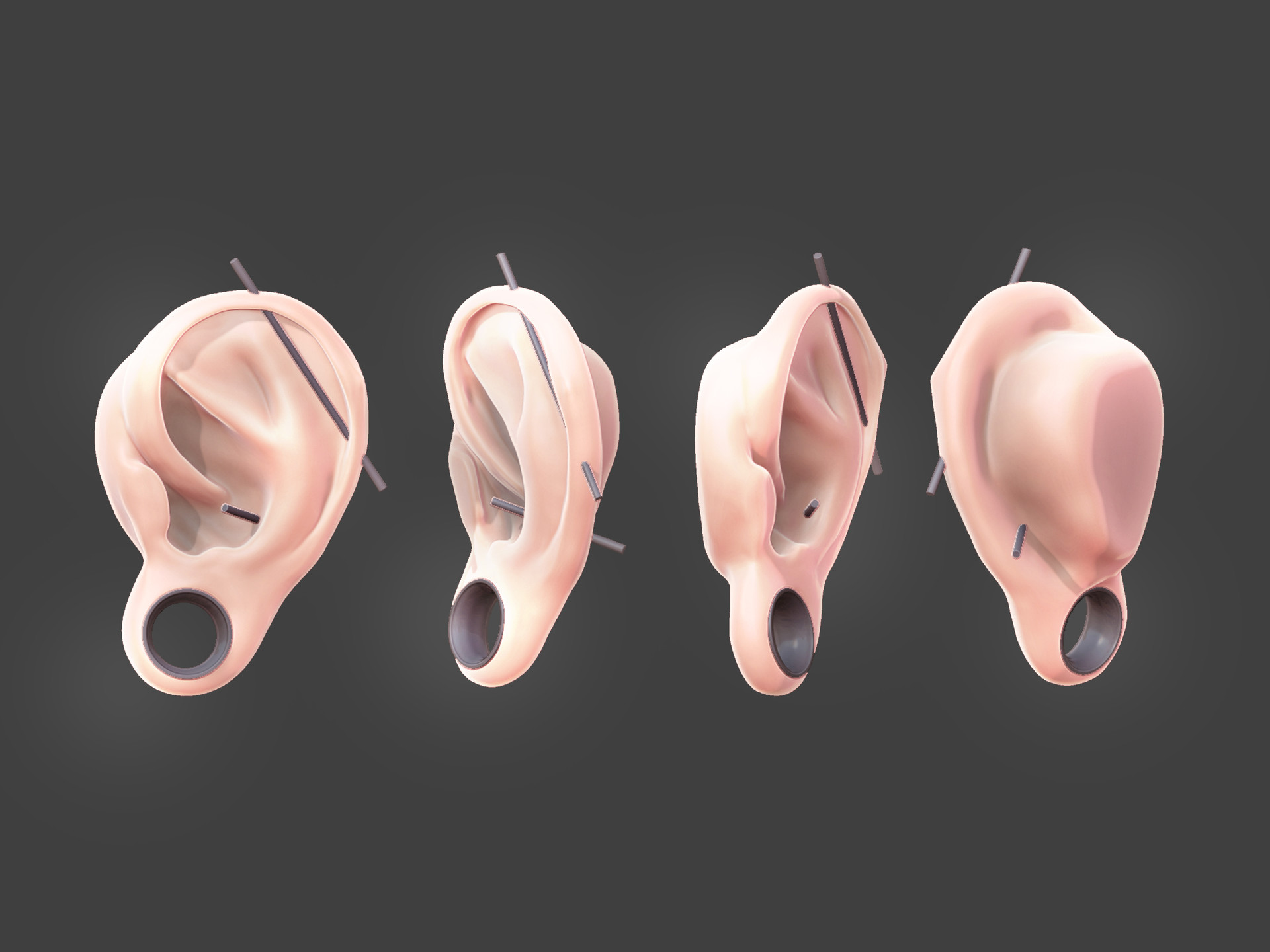 Artstation Human Ears Anatomy Study Lon Ganancial