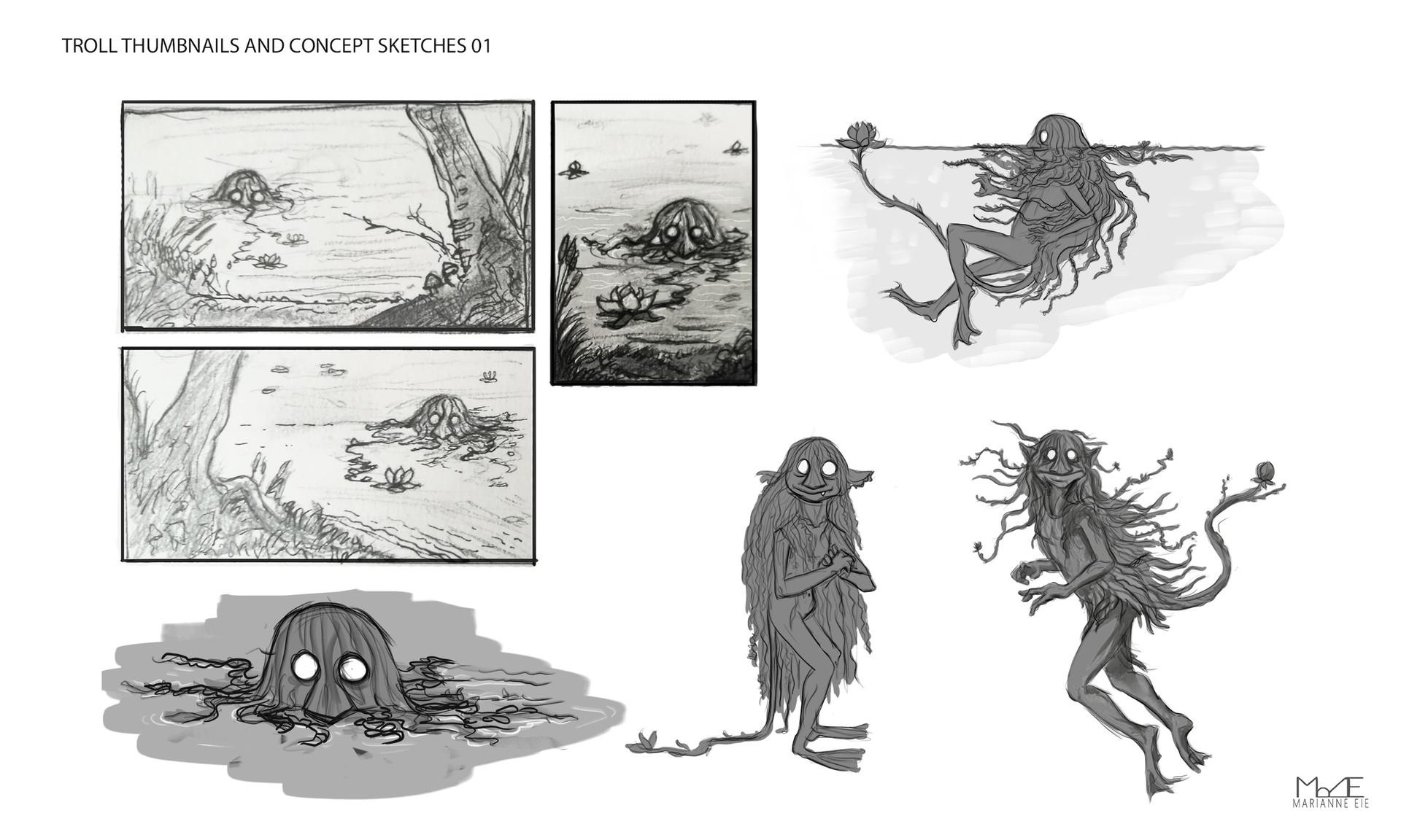 Marianne eie trolls sketches 01