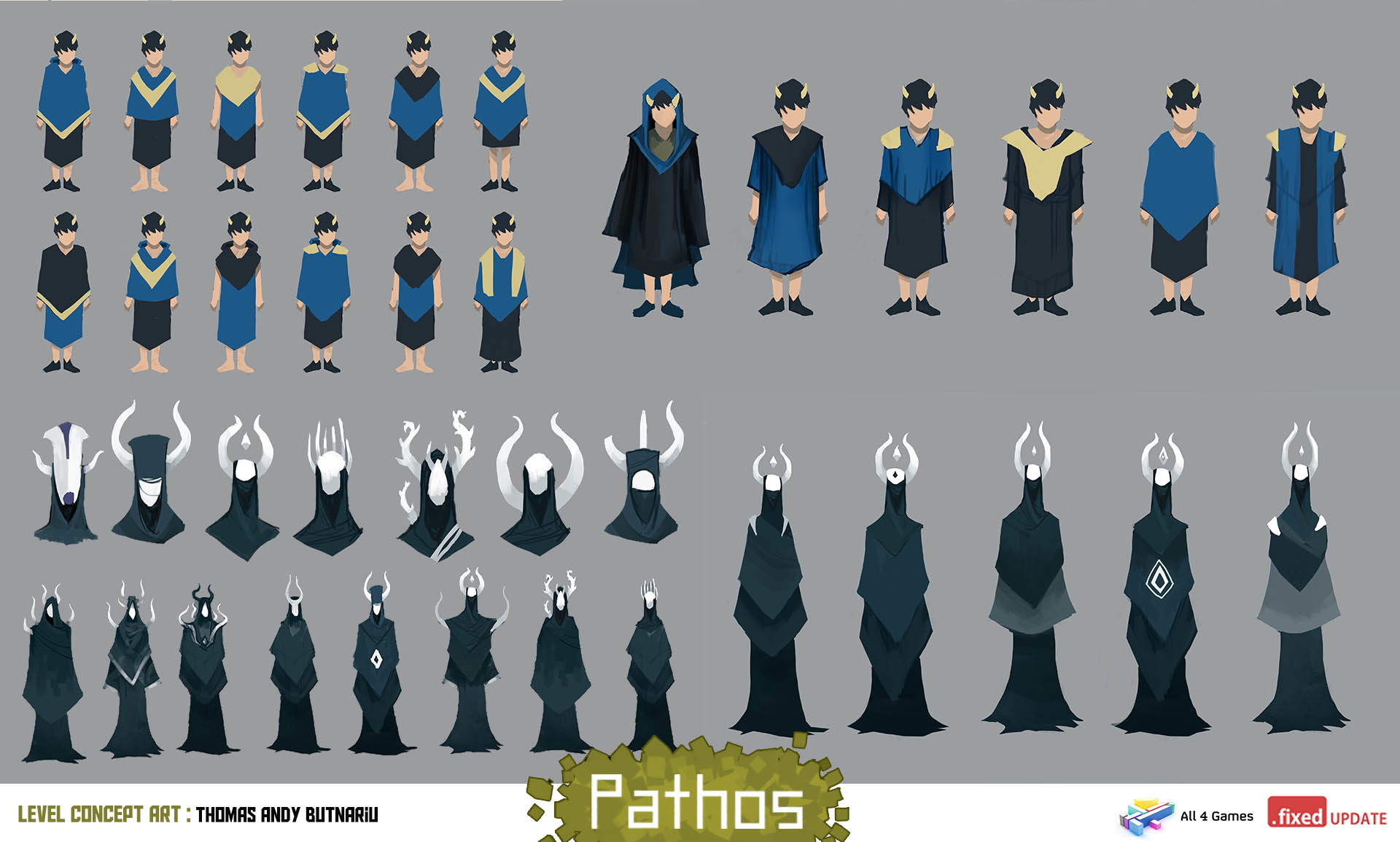 Character Designs for the main antagonist and a secondary character