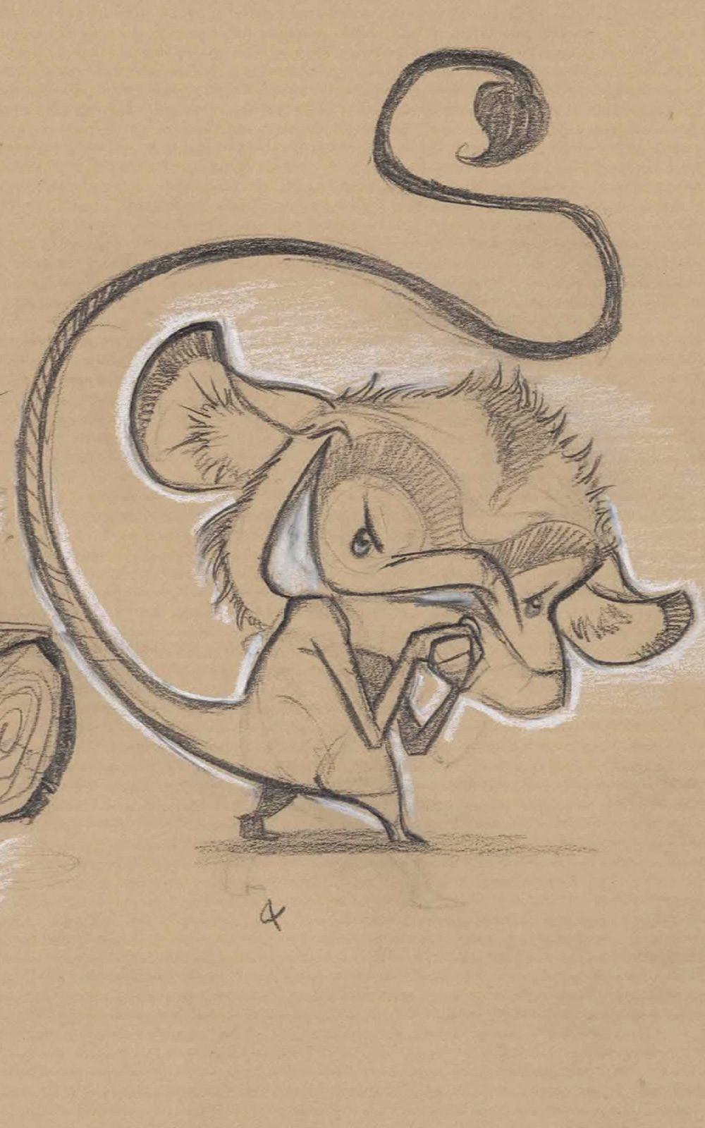 critter Smile negative 5 sketch