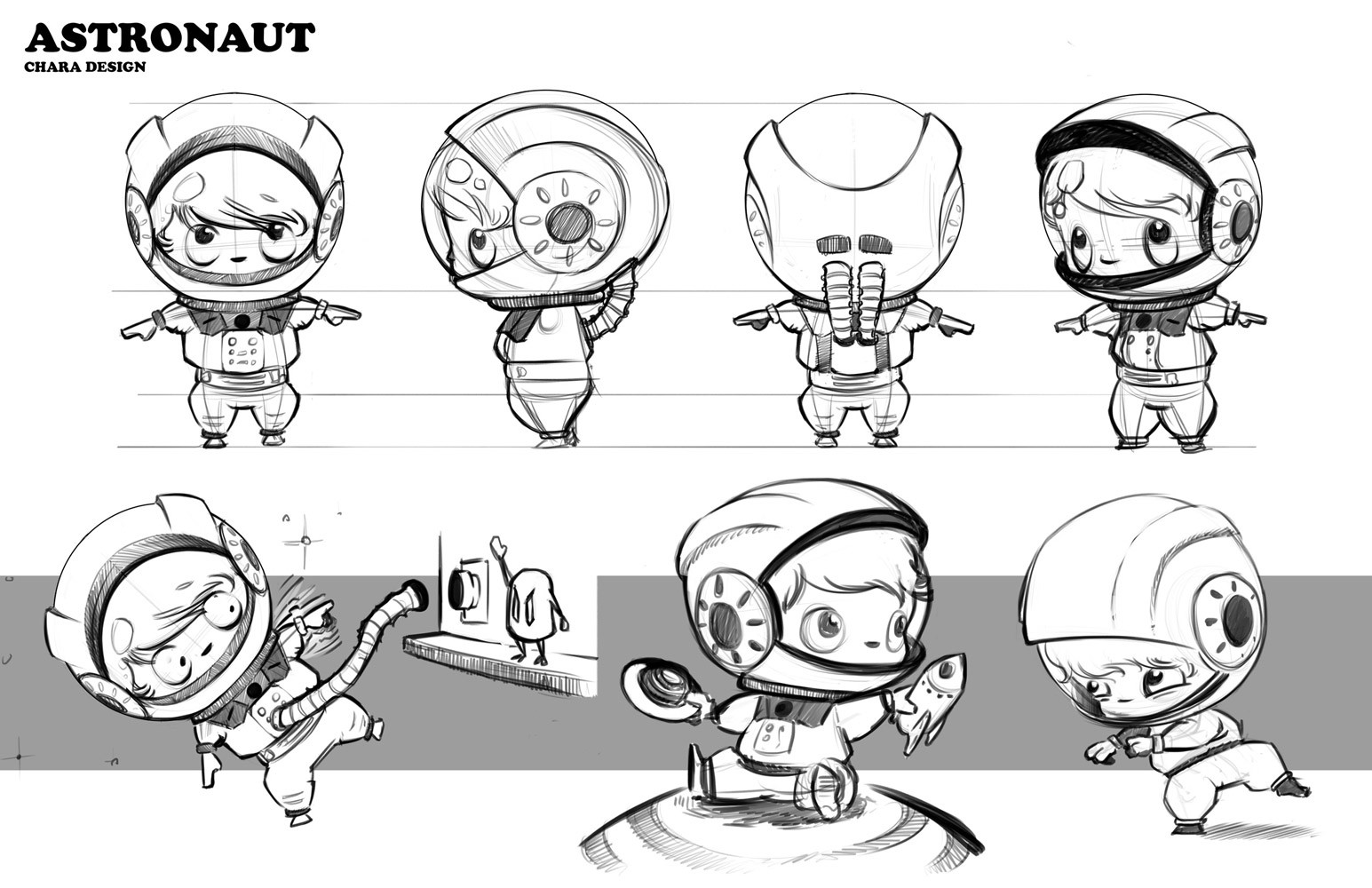 character sketch of an astronaut