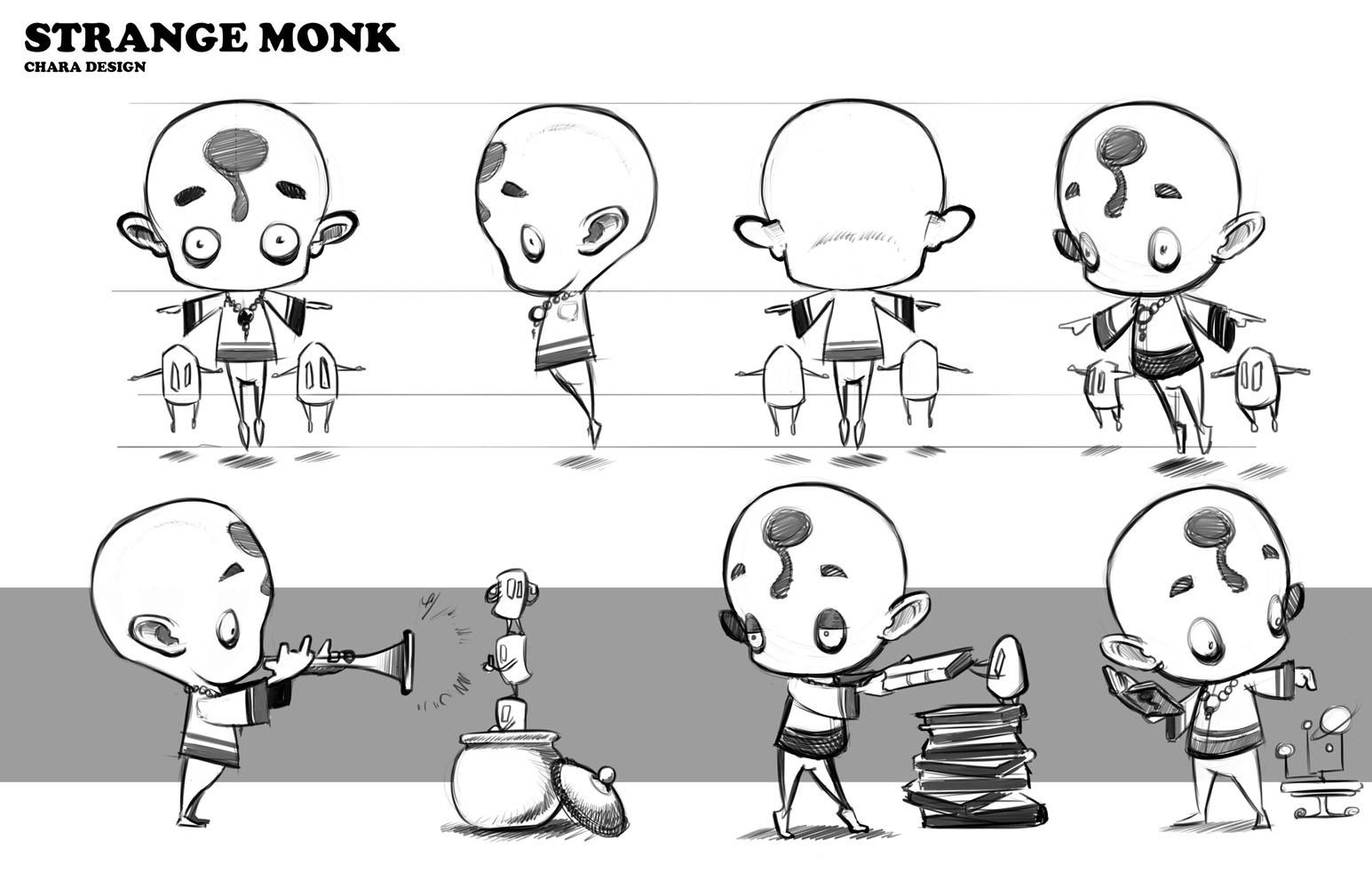 the strange monk
