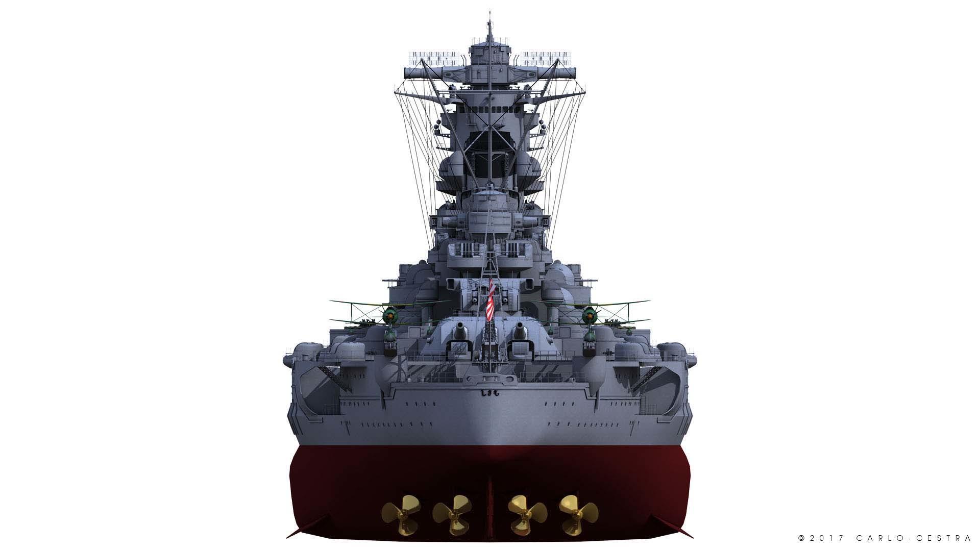 Carlo Cestra Battleship Musashi