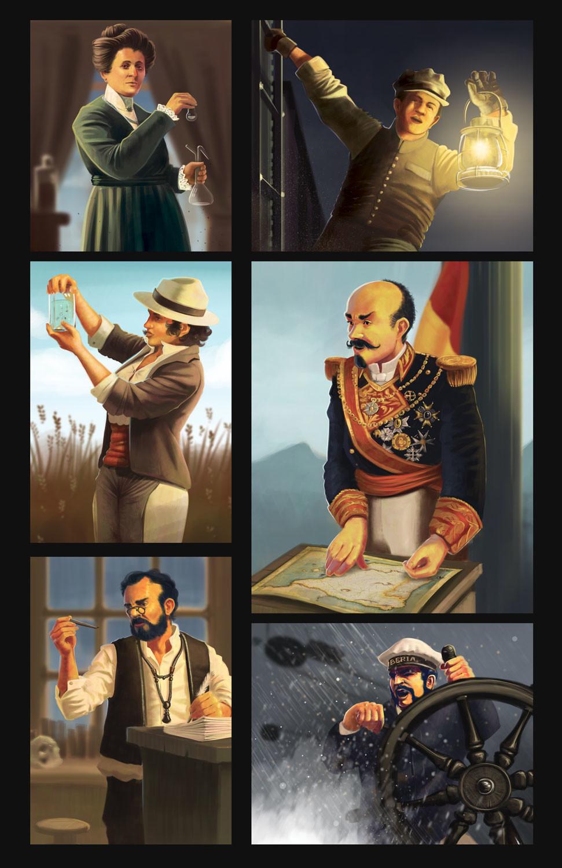 character art for Pandemic Iberia