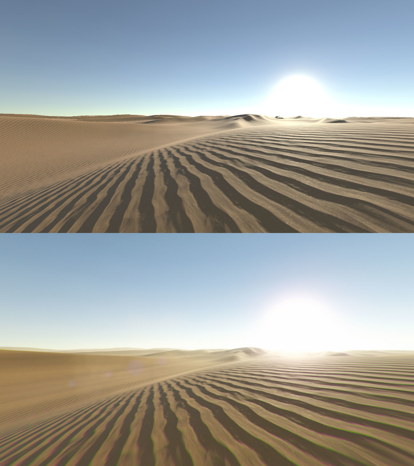 Scorching Desert before and after