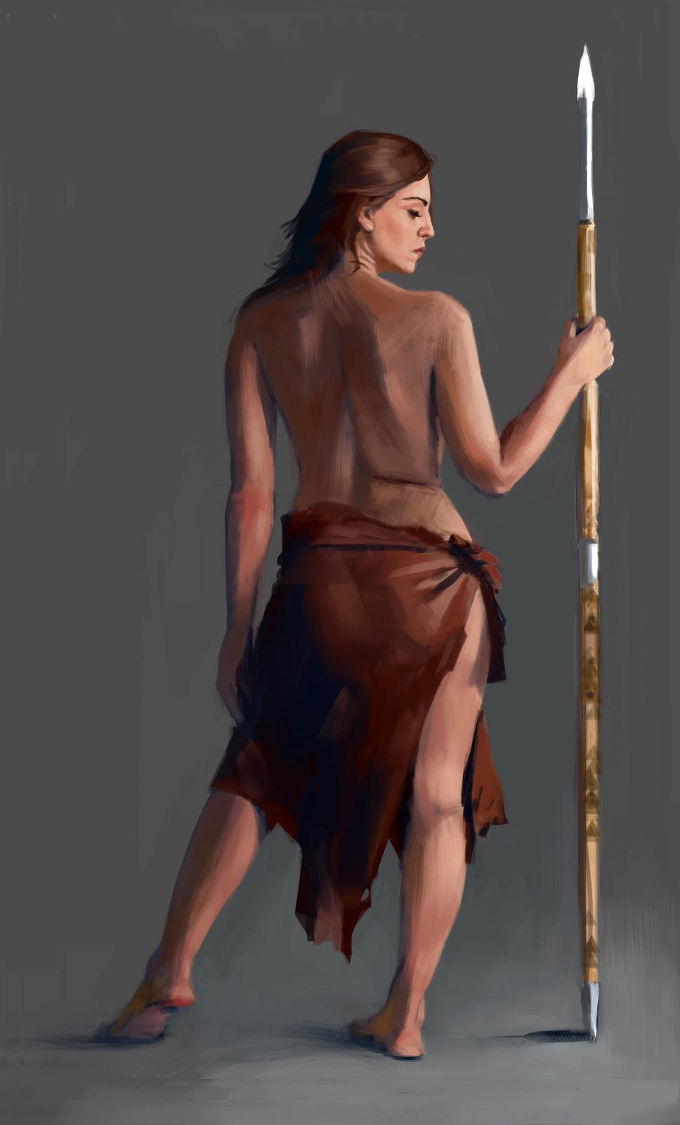 Woman spear